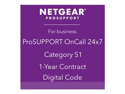 NETGEAR ProSupport OnCall 24x7 Category S1 Technical support phone consulting 1 year 2
