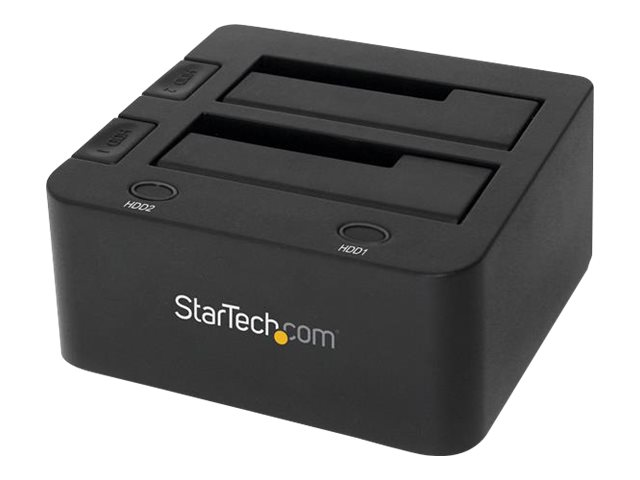 """StarTech.com USB 3.0 Dual Hard Drive Docking Station with UASP for 2.5 / 3.5in HDD / SSD - USB 3.5"""" SATA HDD / SSD Dock…"""