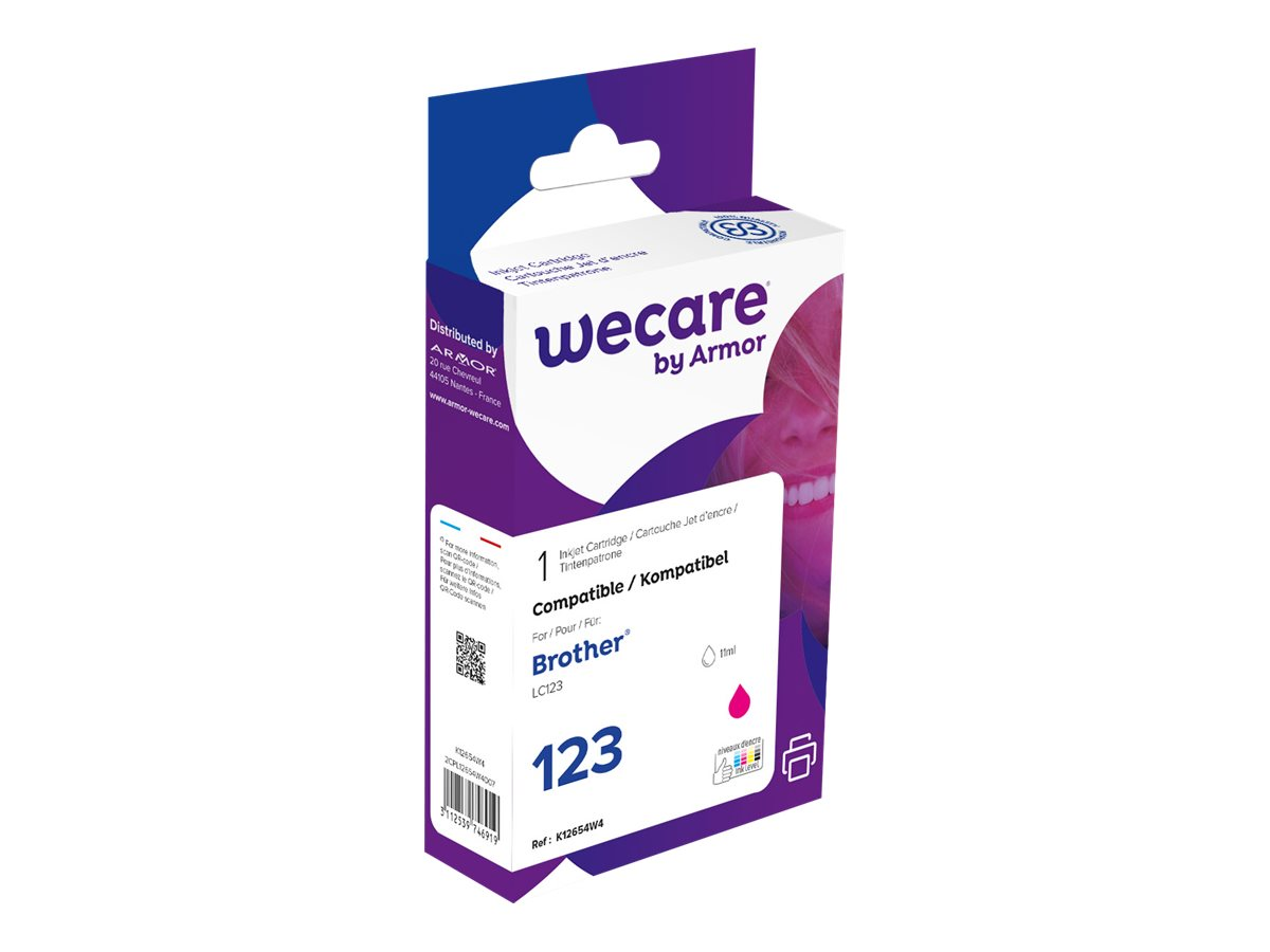 Brother LC123 - compatible Wecare K12654W4 - magenta - cartouche d'encre