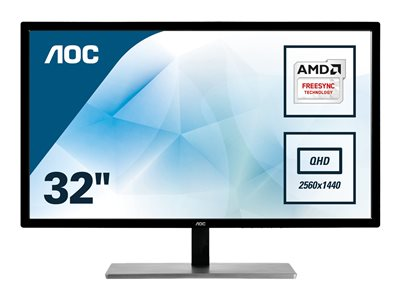 AOC Q3279VWF 32' 2560 x 1440 DVI VGA (HD-15) HDMI DisplayPort 75Hz