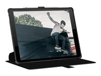 UAG Metropolis Series - Flip cover for tablet - black - for Apple 12.9-inch iPad Pro (3rd generation)