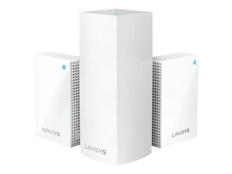 Linksys VELOP Whole Home Intelligent Mesh WHW0203P - Wi-Fi system - 802.11a/b/g/n/ac, Bluetooth 4.1 - desktop