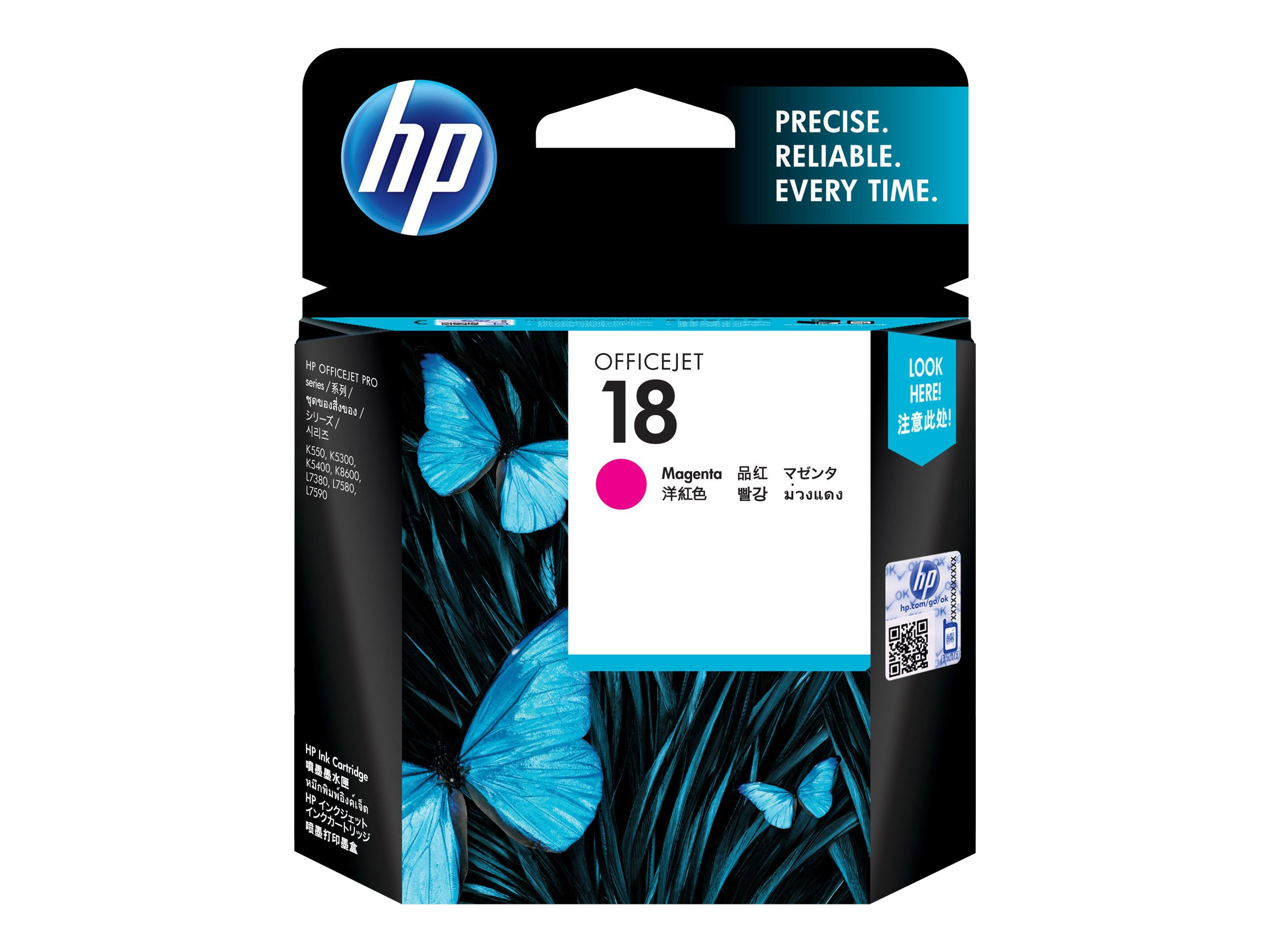 HP 18 - magenta - original - ink cartridge
