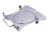 Picture of NewStar Laptop Holder (mounting via Vesa 75x75 to 100x100mm) - Silver - mounting component (NOTEBOOK