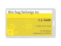 Fellowes Glossy Pouches Luggage Tag with slot 100-pack glossy lamination p