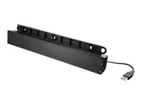 Lenovo USB Soundbar - Speakers - for PC - USB - 2.5 Watt (total) - for ThinkCentre M75; M90; M90n-1 IoT; ThinkPad A275; ThinkStation P330 (2nd Gen); V330-20