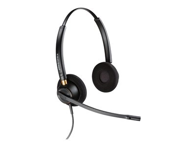Plantronics EncorePro HW520 Headset on-ear wired Quick Disconnect