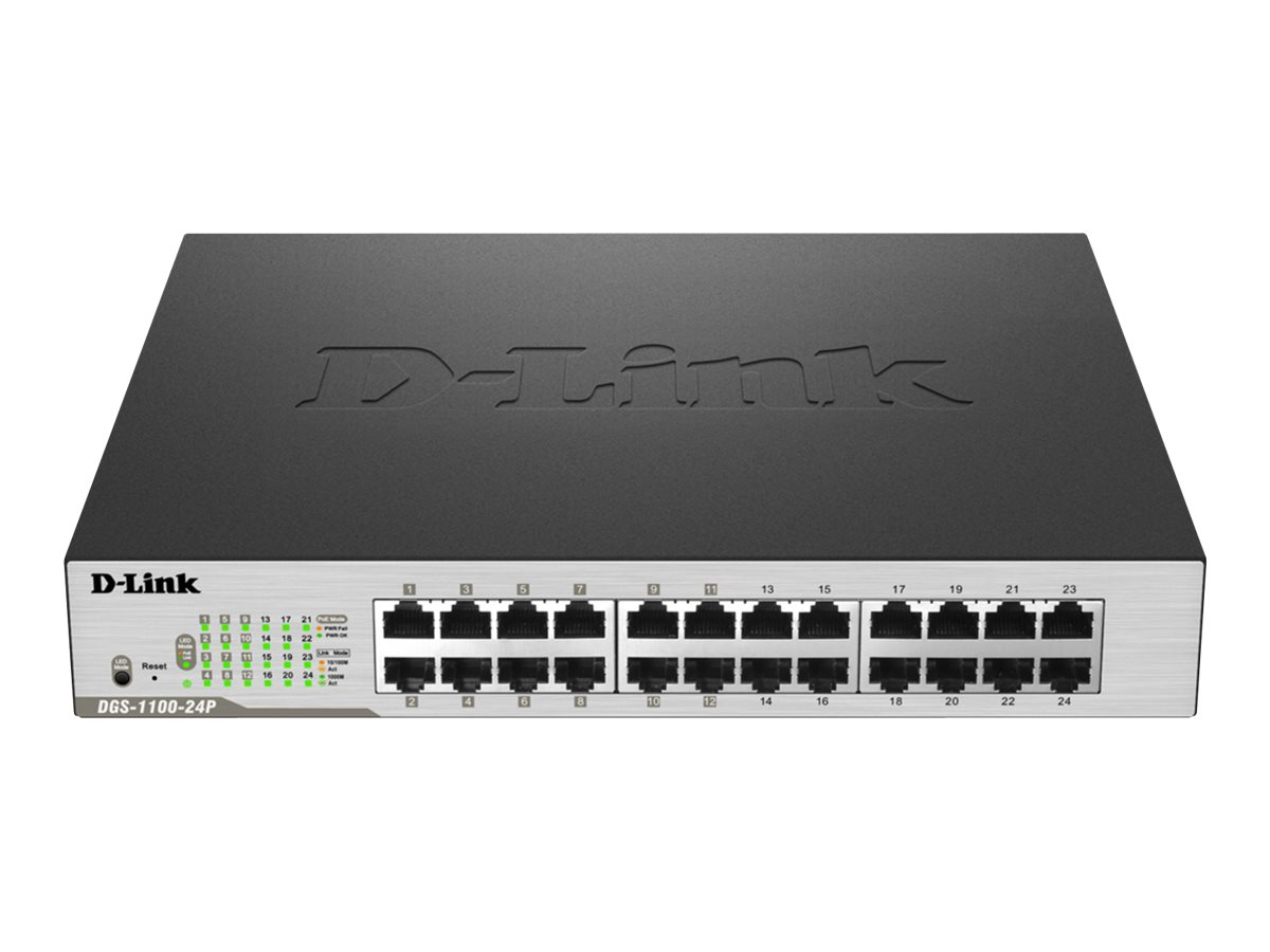 D-Link DGS 1100-24P - switch - 24 ports - managed - rack-mountable