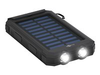goobay Outdoor PowerBank 8.0 Solarstrømbank 8000mAh Sort