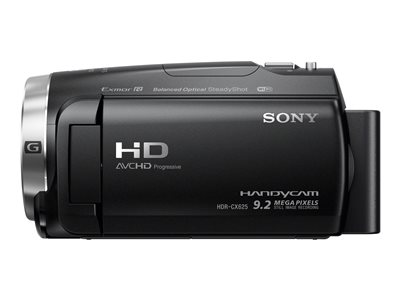Sony Handycam HDR-CX625 - Camcorder - 1080p / 60 fps - 30x optical zoom - flash card - Wi-Fi, NFC - black