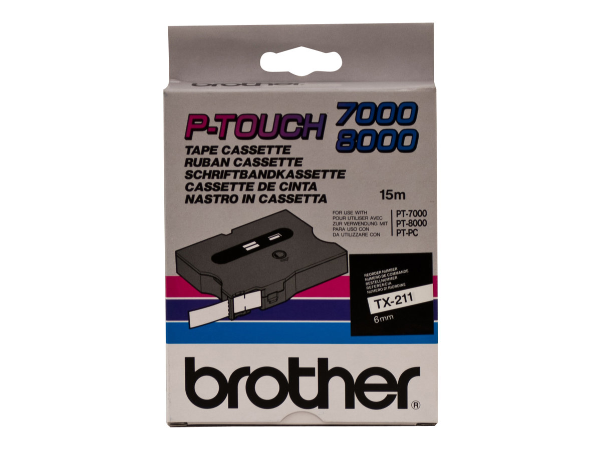 Brother TX211 - laminated tape - 1 roll(s) - Roll (0.6 cm x 15 m)