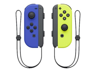 NINTENDO Joy-Con(Left & Right) Gamepad wireless black, blue, neon yellow (pack of 2)