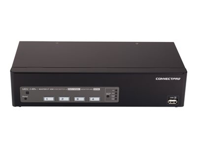 ConnectPRO UDV-14A+KIT KVM / audio / USB switch 4 x KVM port(s) 1 local user deskto