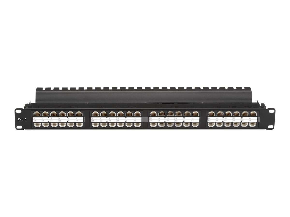 Black Box SpaceGAIN CAT6 High-Density Feed-Through - patch panel - 1U - 19""