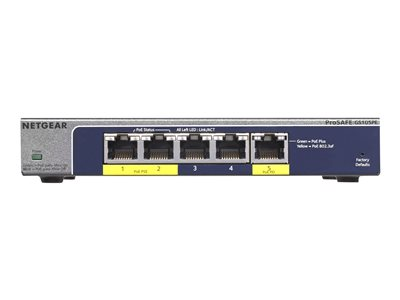 NETGEAR  GS105PE Switch 5-porte Gigabit  PoE+