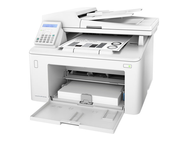HP LaserJet Pro MFP M227fdn - Imprimante multifonctions - Noir et blanc - laser - Legal (216 x 356 mm) (original) - A4/Legal (support) - jusqu'à 28 ppm (copie) - jusqu'à 28 ppm (impression) - 260 feuilles - 33.6 Kbits/s - USB 2.0, LAN, hôte USB 2.0