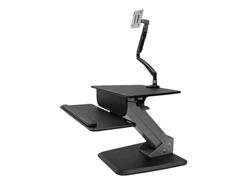 StarTech.com Sit-to-Stand Workstation with Full-Motion Articulating Monitor Arm - One-Touch Height Adjustment (CDP2DVIU…