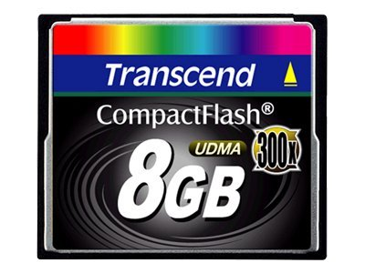 Transcend - Flash-Speicherkarte - 8 GB - 300x - CompactFlash