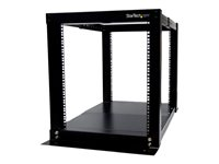 StarTech.com 12U 4 Post Server Equipment Open Frame Rack Cabinet