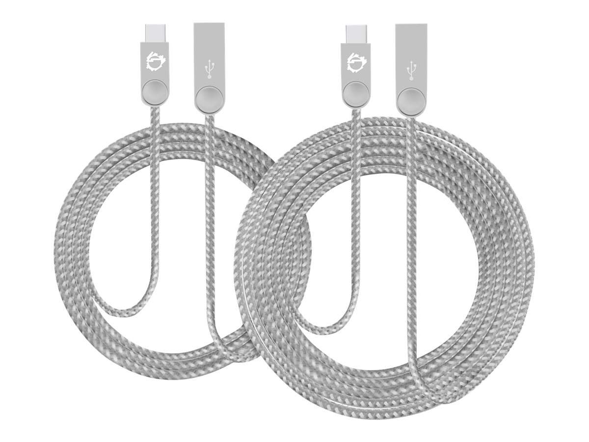 SIIG Zinc Alloy 2-Pack - USB-C cable kit - USB-C to USB