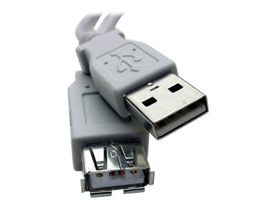 Professional Cable USBX-10 USB extension cable USB (F) to USB (M) USB 2.0 10 ft gray
