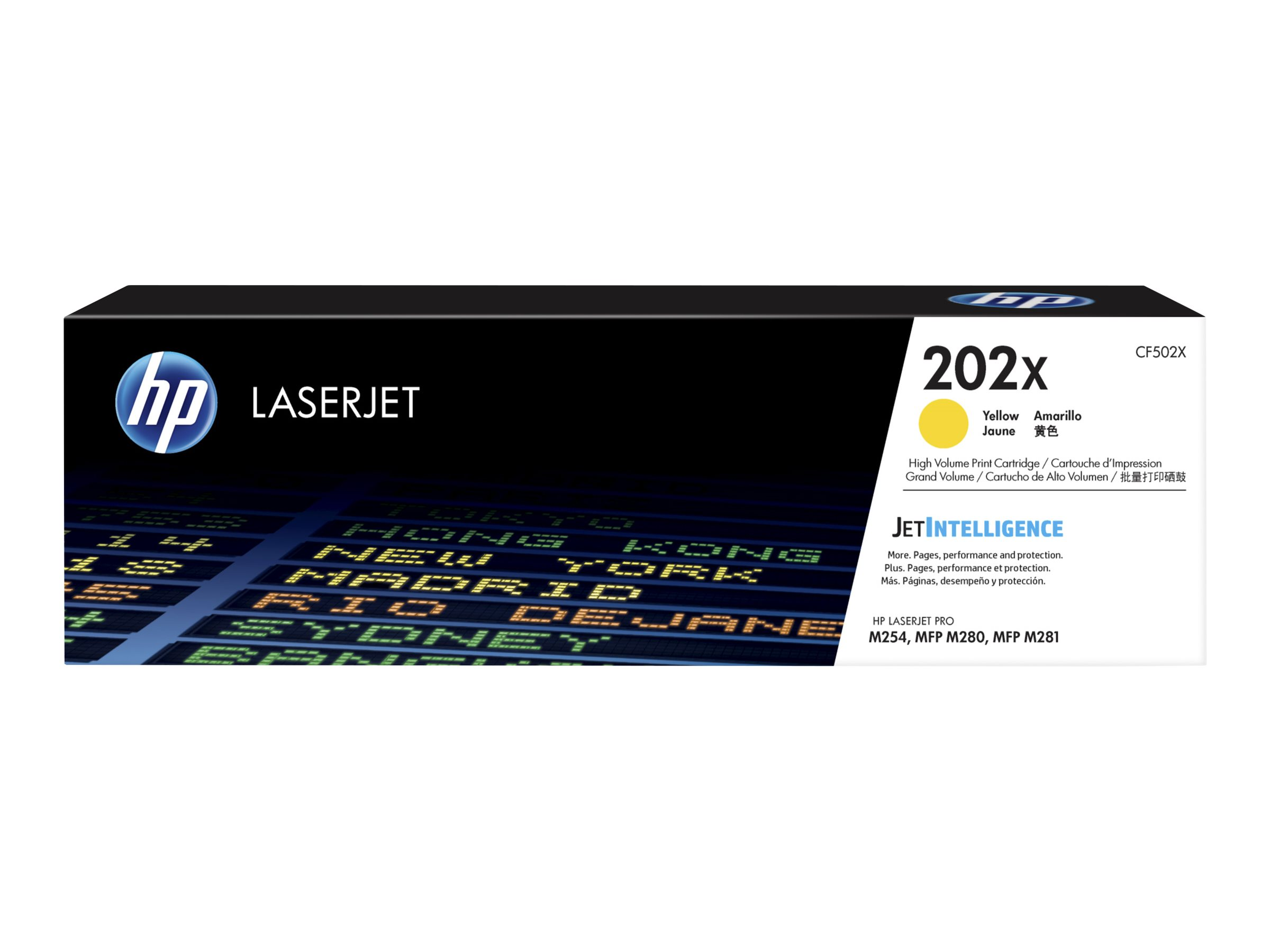 HP 202X - High Yield - yellow - original - LaserJet - toner cartridge (CF502X)