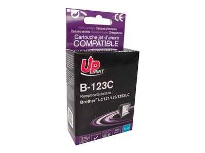 compatibles Brother  Brother LC123/LC125/LC121 - compatible UPrint B.123C - cyan - cartouche d'encre