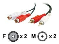 C2G Value Series 6ft Value Series RCA Stereo Audio Extension Cable - audio extension cable - 1.8 m