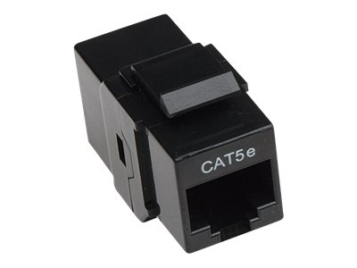 Intellinet Inline Coupler Keystone Type - Keystone-Koppler - RJ-45 (W) bis RJ-45 (W) - CAT 5e - Schwarz