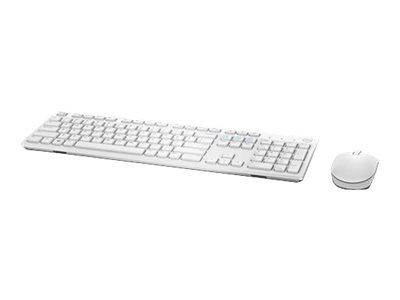 Dell KM636 - keyboard and mouse set - white