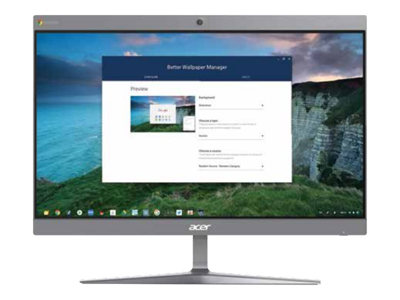 Acer Chromebase CA24I2 - all-in-one - Celeron 3867U 1.8 GHz - 4 GB - SSD 128 GB - LED 23.8""