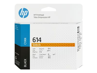 HP 614 - dye-based black, dye-based cyan - printhead
