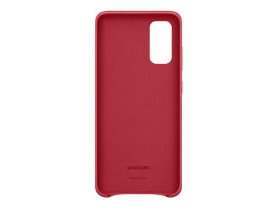 Samsung Leather Cover EF-VG980 - Back cover for cell phone - aluminum, leather - red - for Galaxy S20, S20 5G