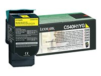 C540H1YG, Toner, yellow, pro C54x, X54x, 2.000 str - return prog