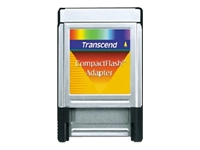 Transcend - Card adapter (CF I) - PC Card