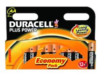 Duracell Plus Power MN1500B12 - Battery 12 x AA type Alkaline