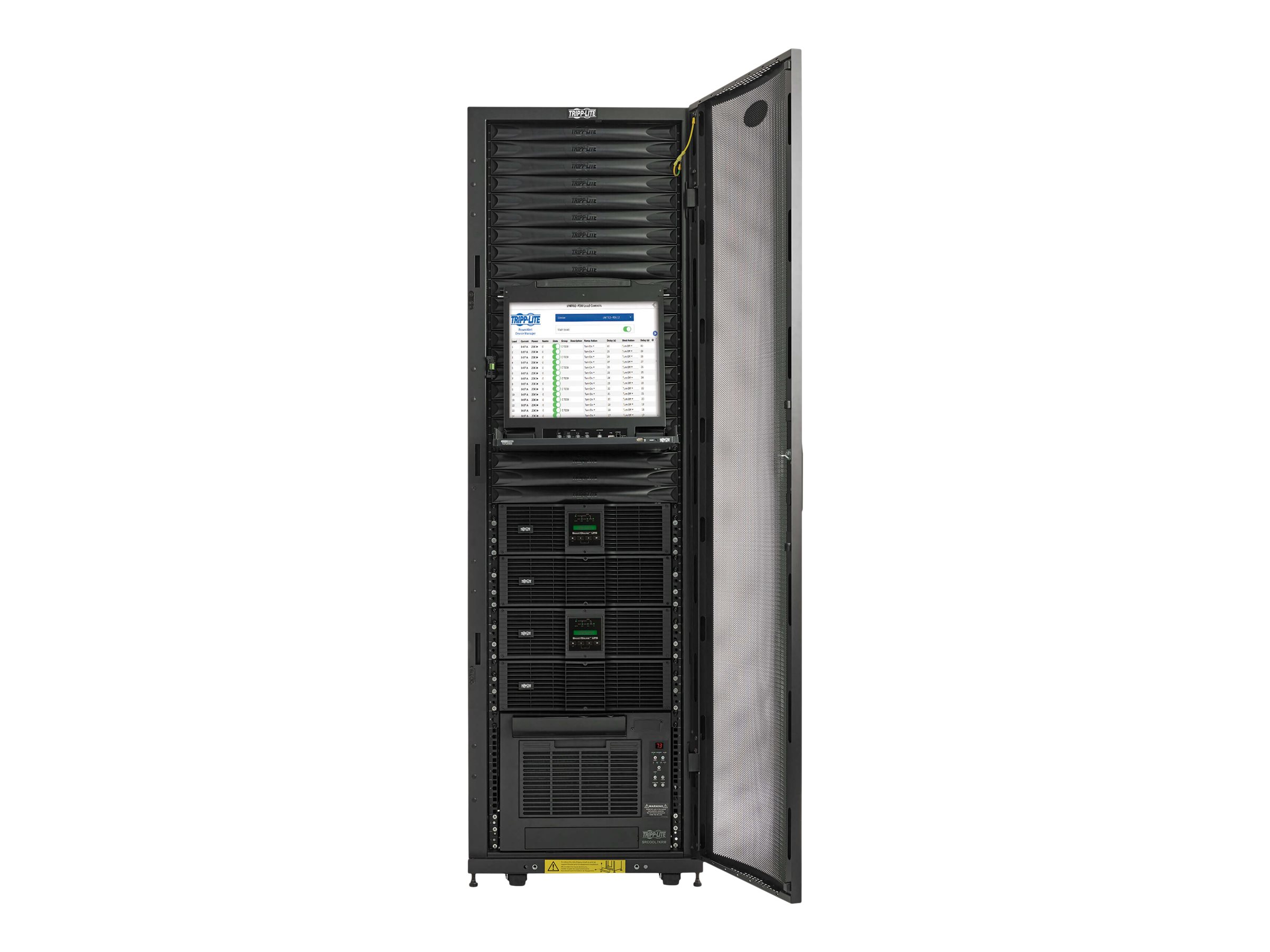 Tripp Lite EdgeReady Micro Data Center - 38U, (2) 3 kVA UPS Systems (N+N), Network Management and Dual PDUs, 120V Assem…