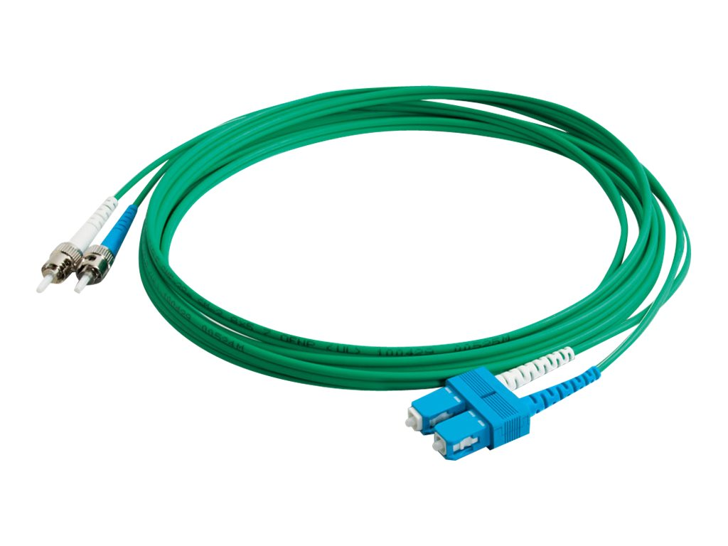 C2G 3m SC-ST 9/125 Duplex Single Mode OS2 Fiber Cable - Plenum CMP-Rated - Green - 10ft - patch cable - 3 m - green