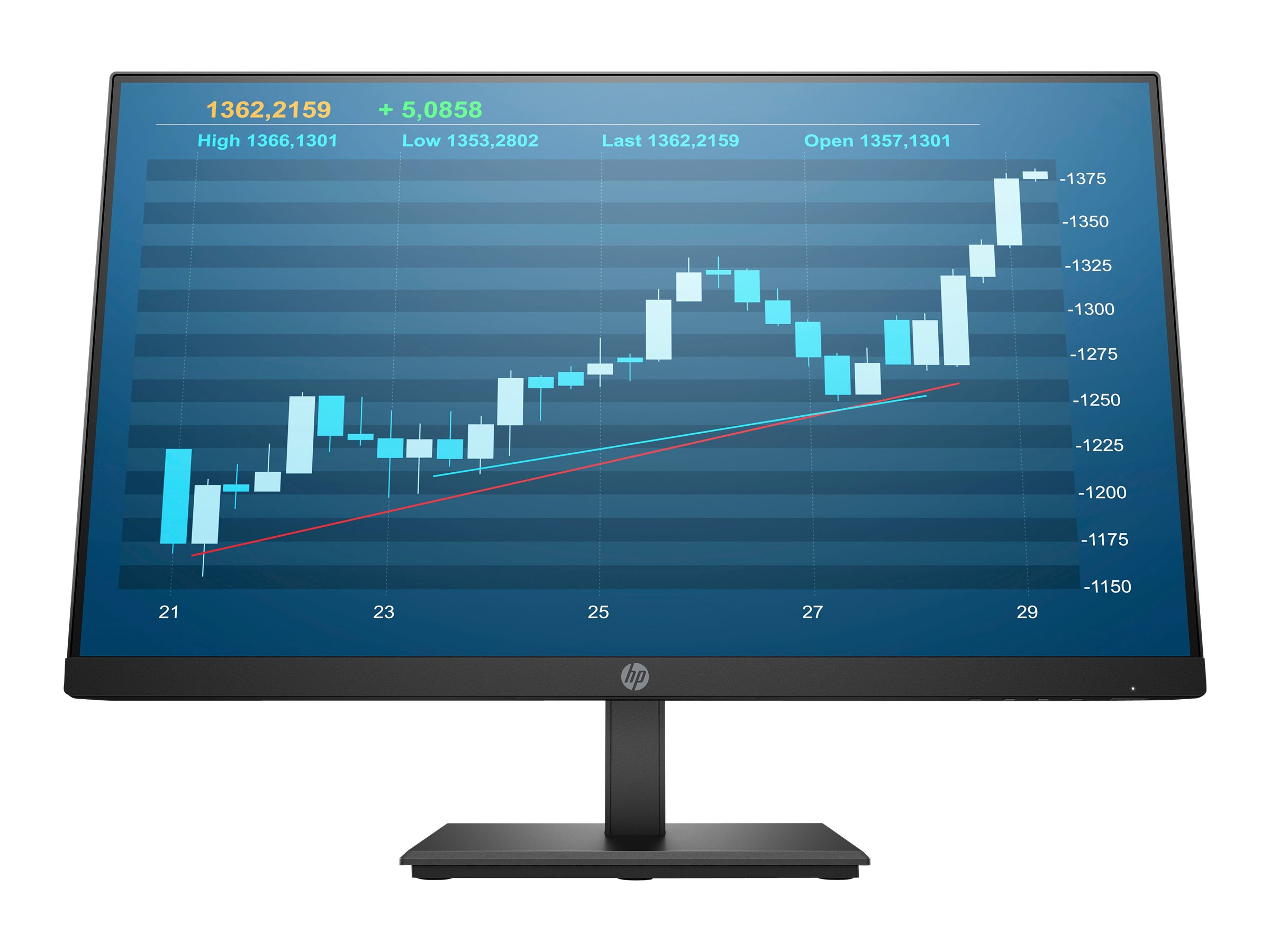 HP P244 - LED monitor - Full HD (1080p) - 23.8""