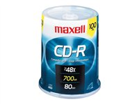 Maxell 100 x CD-R 700 MB (80min) 48x spindle