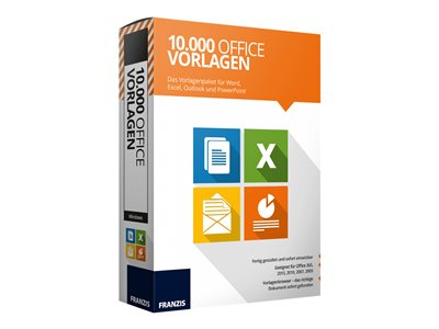 10.000 Office Templates - box pack - 1 licenza
