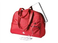 Mobile Edge Sumo WomenFEETs Laptop Purse Notebook carrying case 13.3INCH white, red