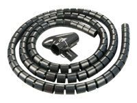 LINDY Spiral Cable Tidy - Flexible Kabelleitung - 5 m - Schwarz