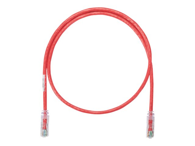 Panduit NetKey patch cable - 10 m - red