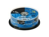 Intenso - 25 x DVD+R - 4.7 GB 16x - Spindel