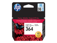 HP 364 - Photo black - original - ink cartridge - for Deskjet 3522; Photosmart 5525, 55XX B111, 65XX, 7510 C311, 7520, Wireless B110