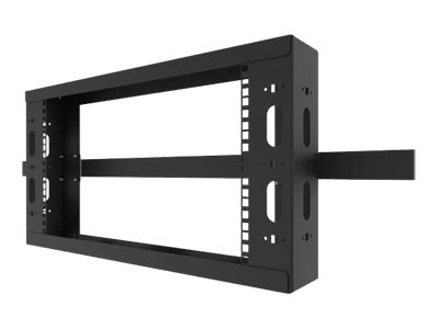 Legrand 8RU Q-Series Overhead Cable Pathway Rack - Black (TAA Compliant) overhead cable pathway rack - 8U