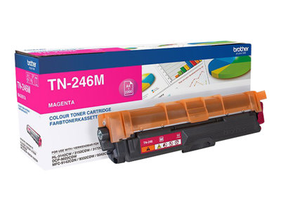 Brother TN 246M Magenta 2200 sider