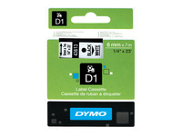 Picture of DYMO D1 - label tape - 1 roll(s) - Roll (0.6cm x 7m) (S0720780)