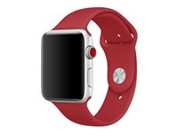 Apple 42mm Sport Band - Small/Medium & Medium/Large - bracelet de montre - 140 - 210 mm - rouge - pour Watch (42 mm)